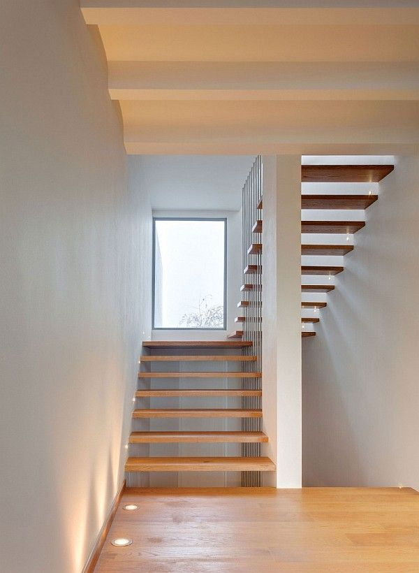 Wonderful Minimalist Home with Contemporary Model: Floating Stairs ~ anahitafurniture.com House Design Inspiration