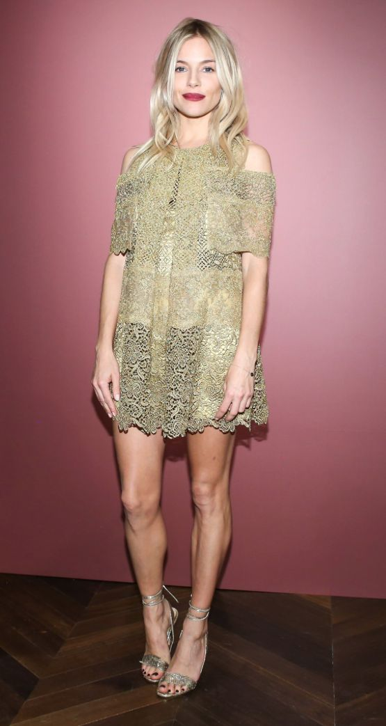 Sienna Miller wearing Burberry at the celebration of The Tale of Thomas Burberry in New York