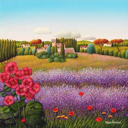 "Naif art. ""Borgo Toscana"" ©Cesare Marchesini"