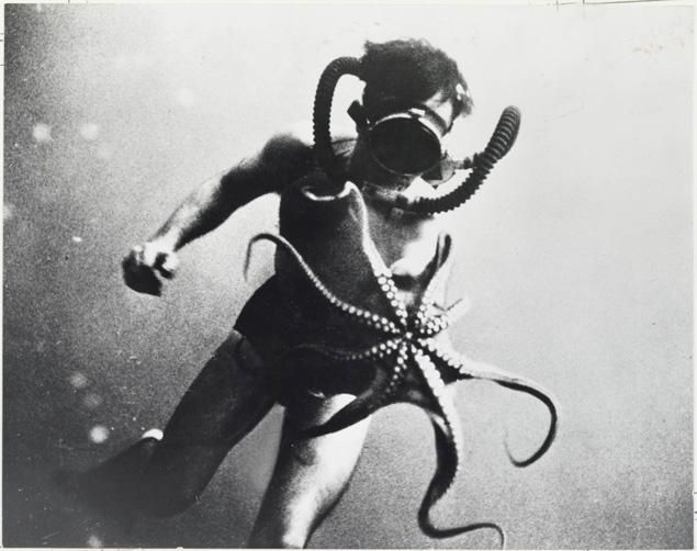 Jacques Cousteau and the Octopus