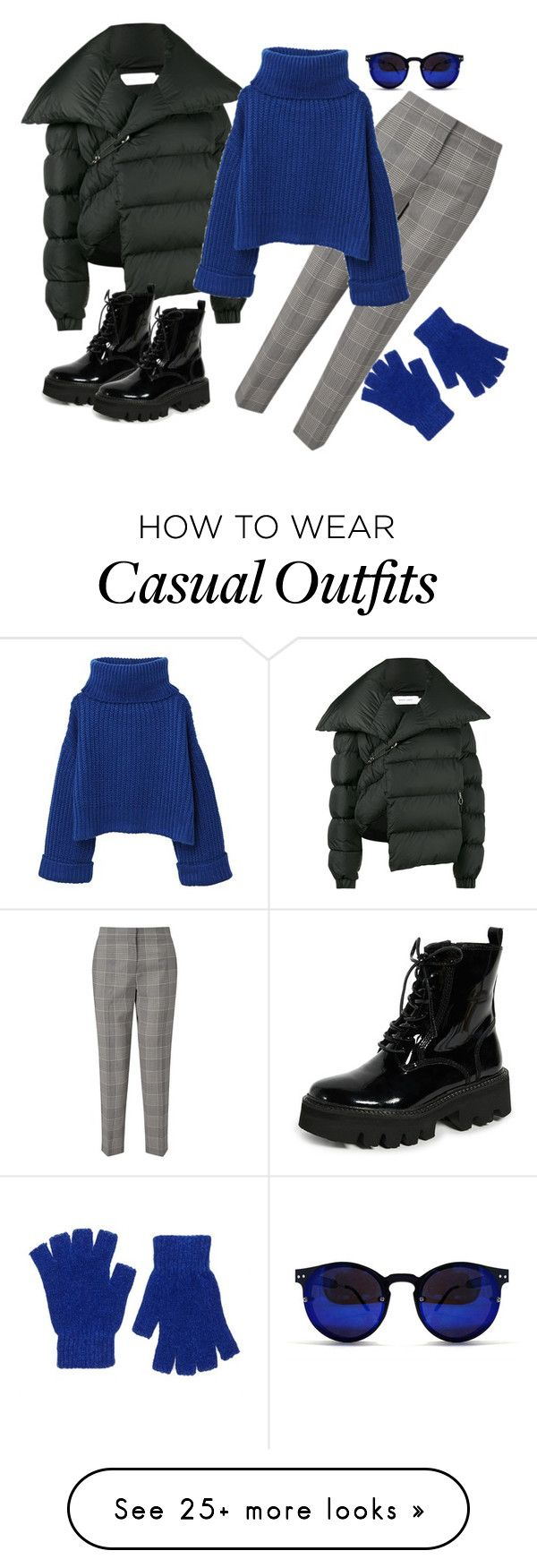 """Winter navy casual"" by tatianuska2005 on Polyvore featuring Marques'Almeida, Jeffrey Campbell, Jigsaw, MANGO, Spitfire, Forever 21 and wintercasual"