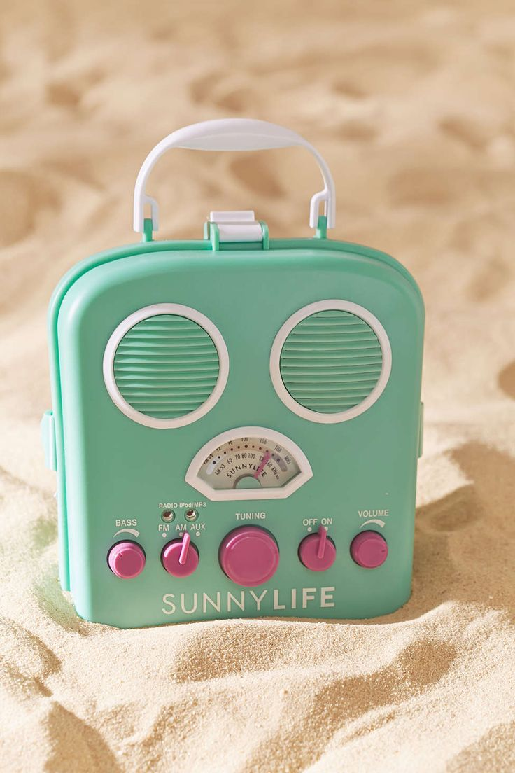 Sunnylife Beach Sounds Portable Radio + Speaker - Urban Outfitters