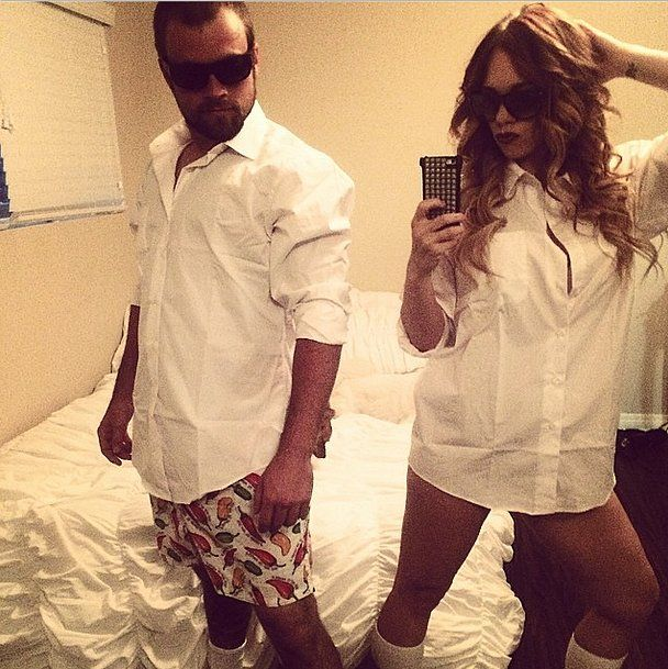 This is one outfit both men and women can pull off. What you need to do: For the guys, wear a white button-down, sunglasses, boxers, and white socks. For the girls, wear an oversize white button-down, sunglasses, and socks. If you want a sexier look, curl your hair. Source: Instagram user allyssa_cut