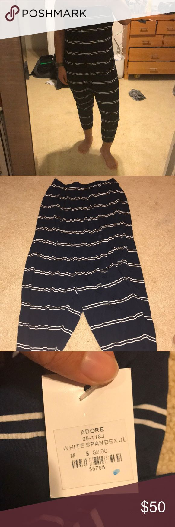 Navy blue and white stripped jumper Never worn with tags Adore Other