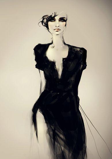 Dessin de Joanne Young. Talentueuse illustratrice vivant à Melbourne. Se passionne pour les arts graphiques et en particulier le dessin de mode.