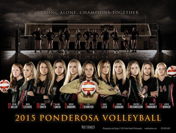 2015 Ponderosa High School volleyball poster. Photos and design Copyright 2015 Matt Daniels Photography.