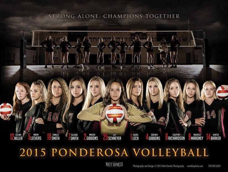 2015 Ponderosa High School volleyball poster. Photos and design Copyright 2015 Matt Daniels Photography.