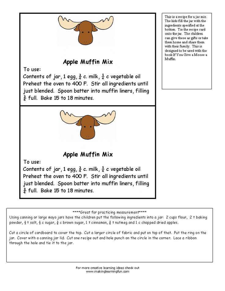 43 best If You Give A Moose A Muffin images on Pinterest Preschool