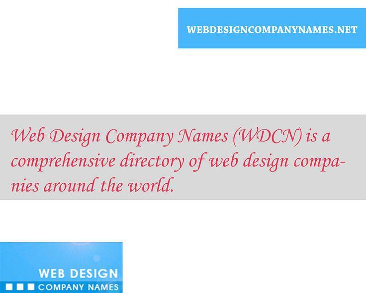 Web design company names around the World