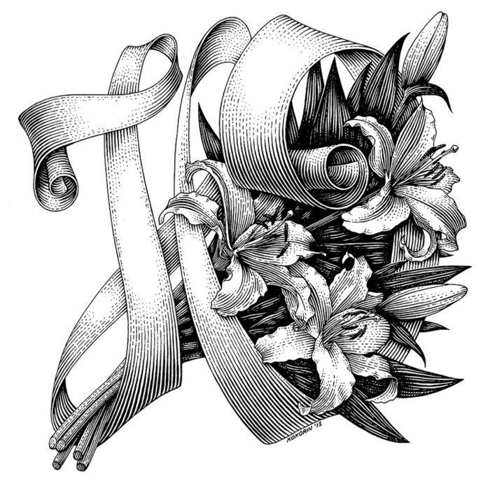 Тюльпанового дерева, букет роз графика