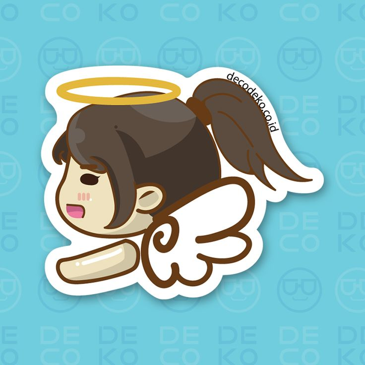 Sticker Angel Girl