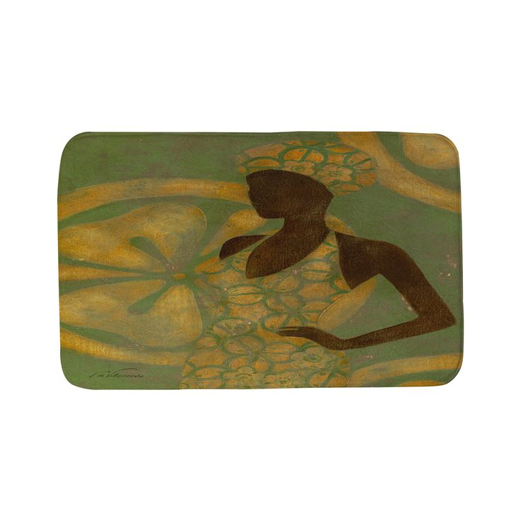 Weavers Thumbprintz Ebony Art Green Bath Mat