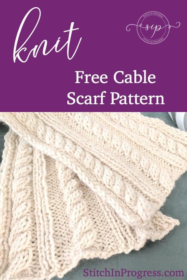 048fdb5aeb91 Looking for a knit cable scarf pattern  Check out our free knit cable scarf  pattern and made this beautiful scarf today!  knit  knitting  freepattern  via   ...