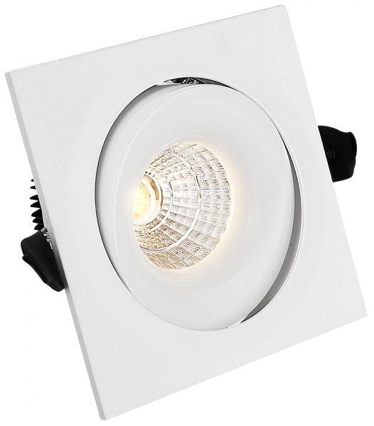 Georgia firkantet 7W lavtbyggende LED downlight