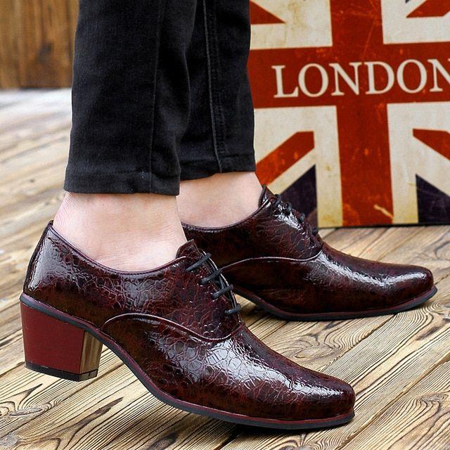 envío gratis a4a0c c5853 Zapatos de hombre tacones altos primavera otoño para Hombre ...