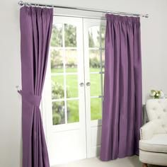 Mauve Nova Blackout Pencil Pleat Curtains