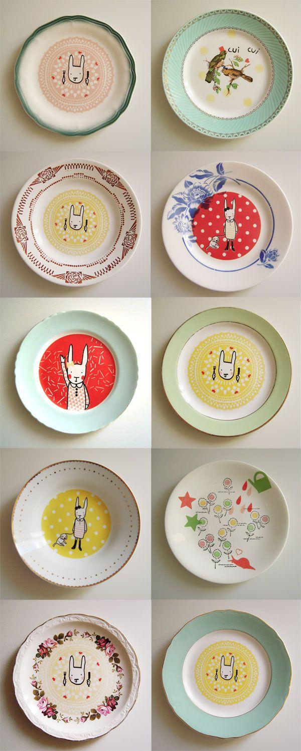 1000 ideas about vintage plates on pinterest vintage. Black Bedroom Furniture Sets. Home Design Ideas
