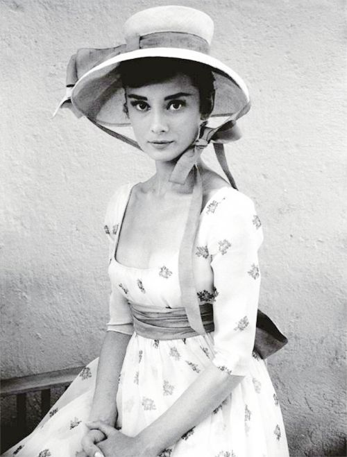 """swagdopealicious: vintagegal: Audrey Hepburn photographed by Milton Greene on the set of War and Peace, 1955 I LOVE YOU """
