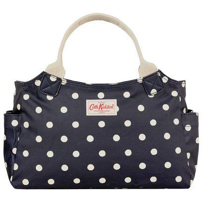 navy spot bag