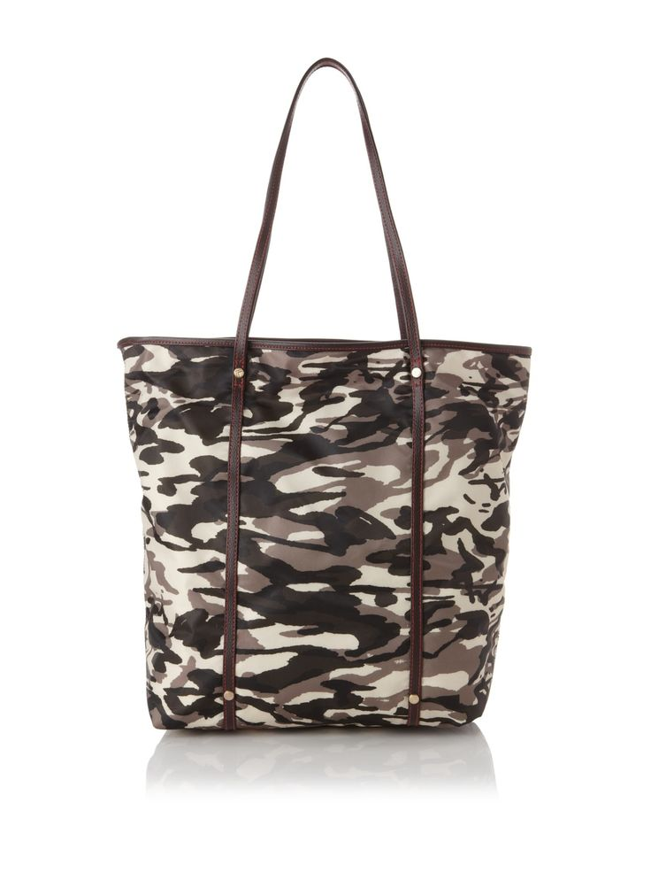 Mae Fashion Tote, Camo/Orange $36