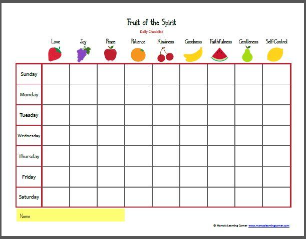 fruit of the spirit bingo - Google Search