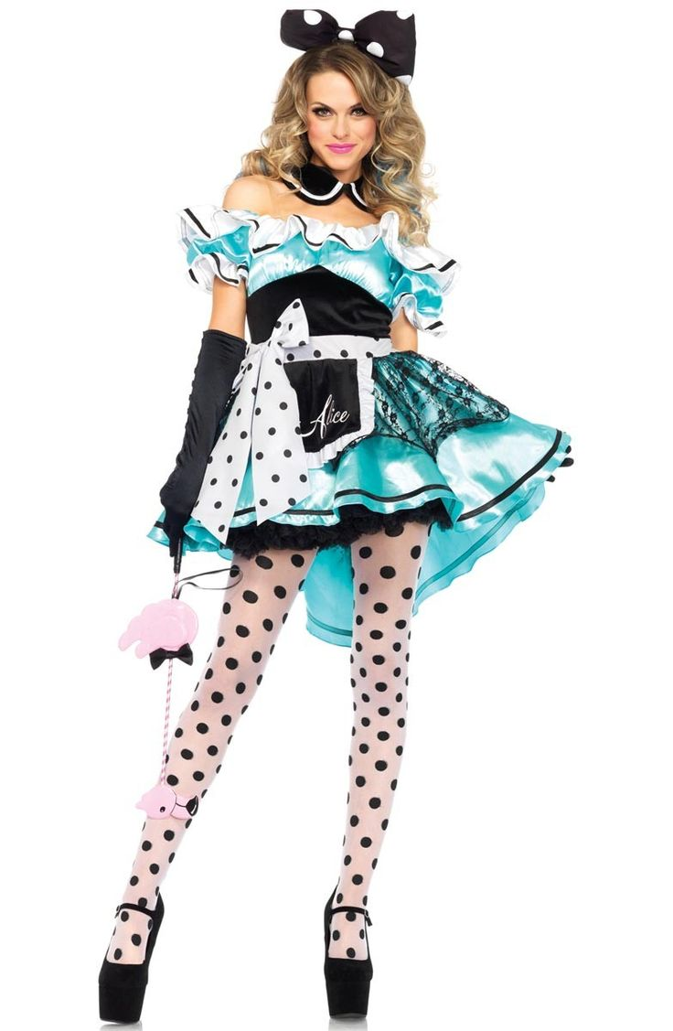 buy this delightful deluxe alice in wonderland womens costume online now at heaven costumes fall down the rabbit hole and make your way to wonderland in - Masquerade Costumes Halloween