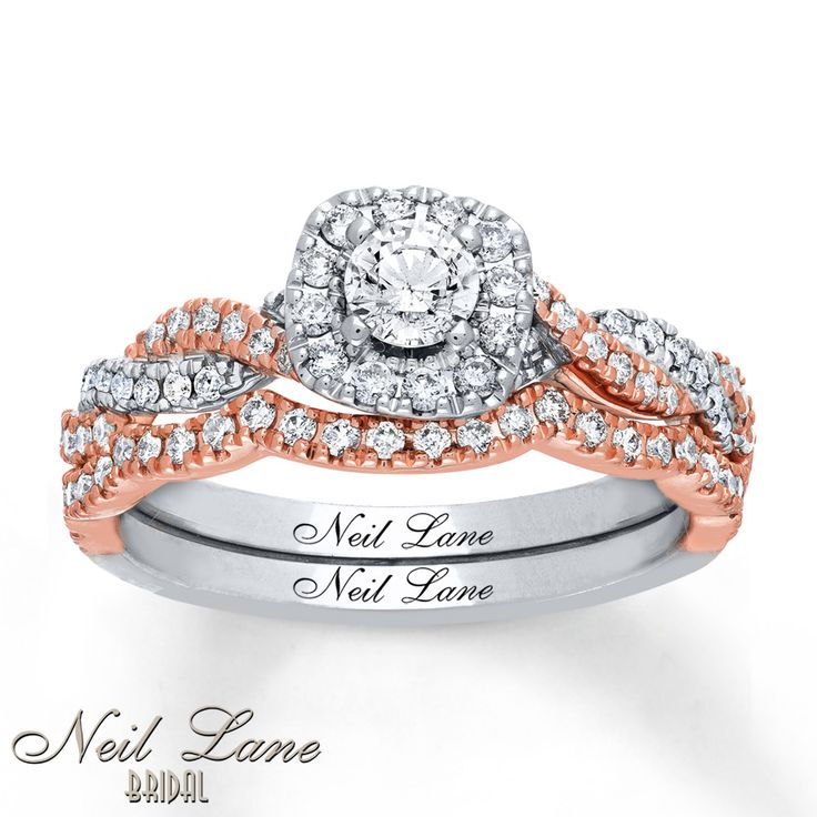 Neil Lane Bridal Set 3/4 ct tw Diamonds 14K Two-Tone Gold