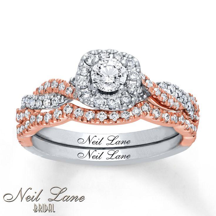 Neil Lane Bridal Set 3/4 ct tw Diamonds 14K Two-Tone Gold
