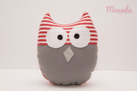 Owl  cuddly pillow toy baby room decoration by Meaada on Etsy