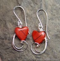 Sculpted Windows Jewelry Journal: A New batch of Wire Wrapped Earrings!