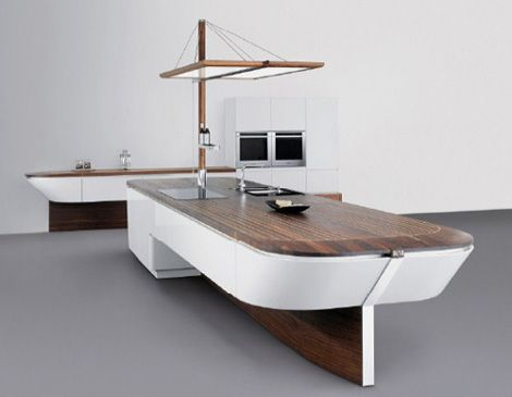 This has to be one of the most awesome kitchen island I've ever seen!!