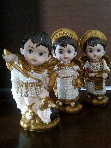 Arcanjos - São Gabriel, São Miguel e São Rafael Baby - 20 cm