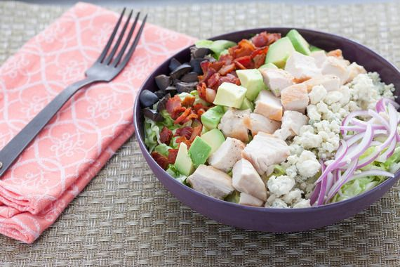 Chicken Cobb Salad with Smoky Bacon, Avocado and Blue Cheese. 9/10 ...