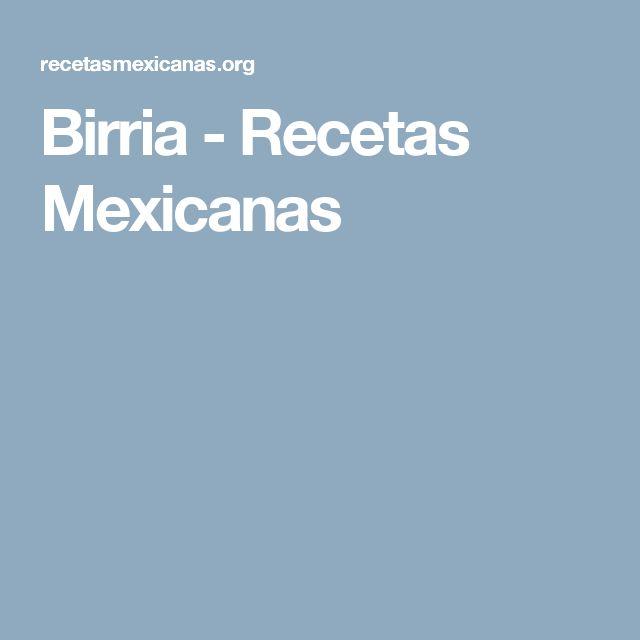 Birria - Recetas Mexicanas