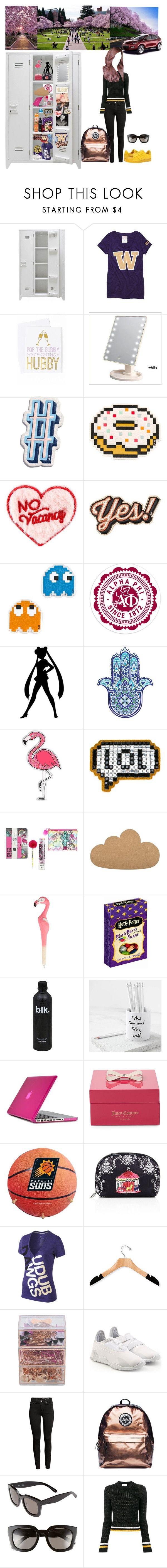 """University idea"" by aliceridler ❤ liked on Polyvore featuring Victoria's Secret, Ann Page, Anya Hindmarch, Bloomingville, Sass & Belle, Jelly Belly, Speck, Juicy Couture, LeSportsac and NIKE"
