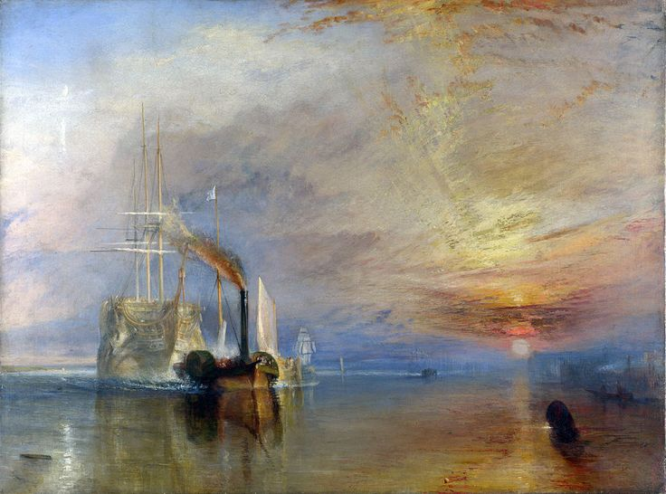 La valorosa Tèmèraire, William Turner, 1838-1839. Olio su tela, 90,7×121,6 cm. National Gallery, Londra