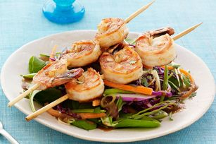 Asian Sesame Salad with Blackened Shrimp Recipe - Kraft Recipes *