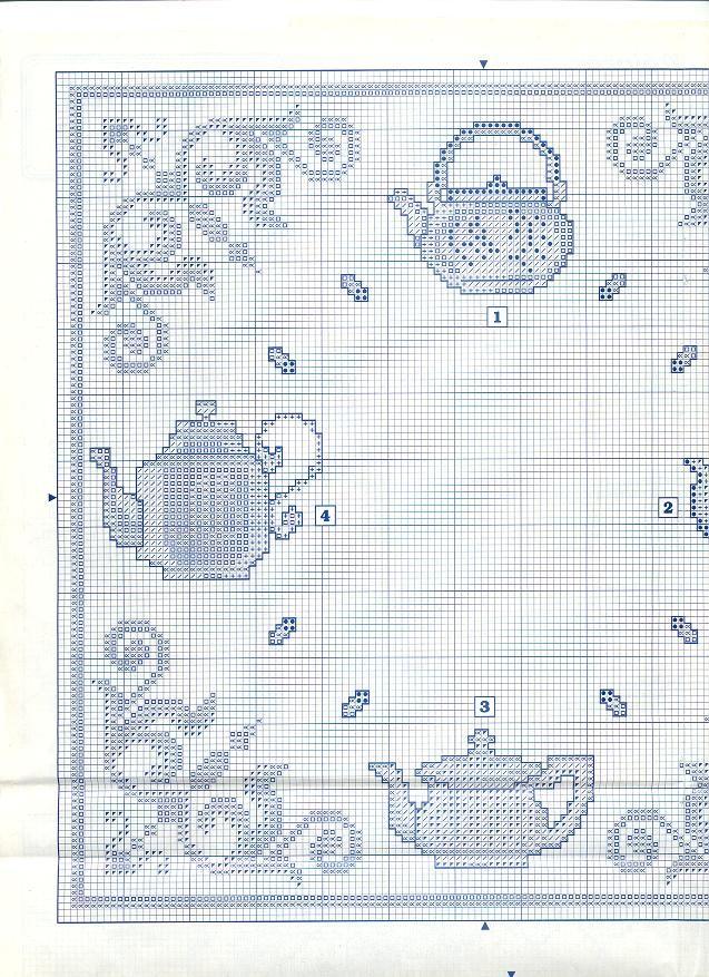 (Enma Ekleyen) Çaydanlıklar Çapraz Dikiş diyagramı (1x1) - - çaydanlıklar (Enma Ekleyen) PuntoyCruz.com