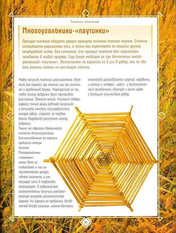 Иллюстрация 9 из 21 для Плетение из соломки: Техника. Приемы. Изделия | Лабиринт - книги. Источник: Oslik IA