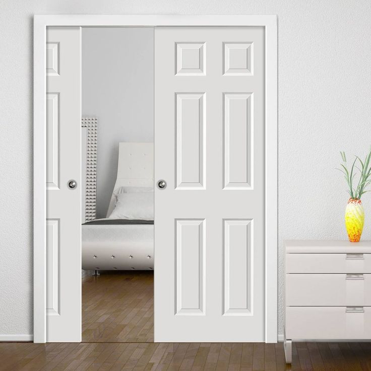 Colonist White Double Pocket Doors & 55 best Panelled Pocket Door Pairs images on Pinterest | Pocket ... pezcame.com