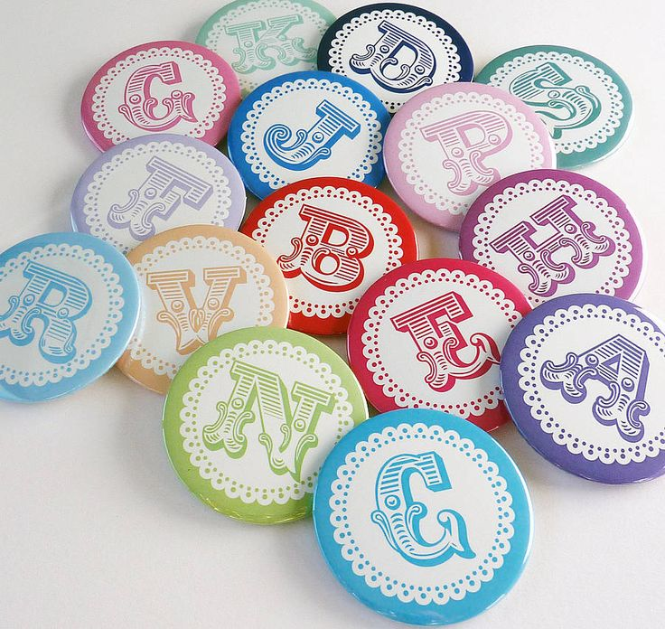 bold initial personalised badges by little cherub design | notonthehighstreet.com