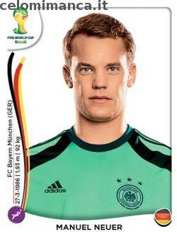 Panini Coppa del Mondo FIFA Brasile 2014: Fronte Figurina n. 490