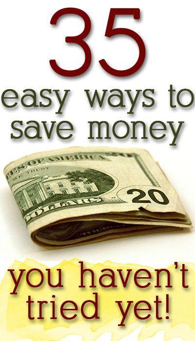 35 ways to save money