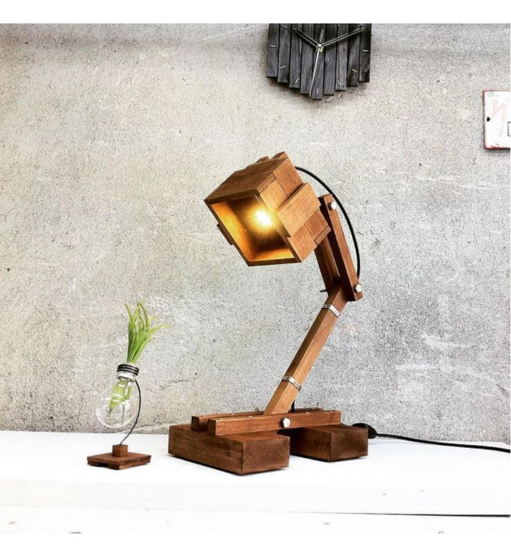 "Big Wooden Lamp ""Kran Gigant"""