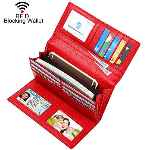 New Trending Purses: Dante Women RFID Blocking Real Leather Trifold Wallet - Clutch Checkbook Wallet for Women - Shield Against Identity Theft(Red). Dante Women RFID Blocking Real Leather Trifold Wallet – Clutch Checkbook Wallet for Women – Shield Against Identity Theft(Red)  Special Offer: $23.99  244 Reviews What is RFID? RFID (radio frequency identification) is a growing technology that uses radio waves to read and...