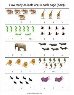 #Zoo Animals Counting Practice for #Preschool & #Kindergarten