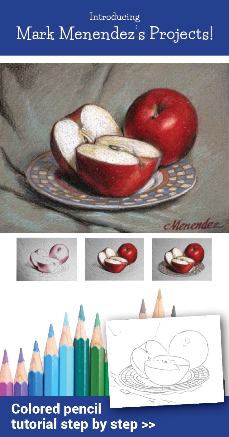 11 new advanced colored pencil tutorials from Mark Menendez are now available - print or digital download.