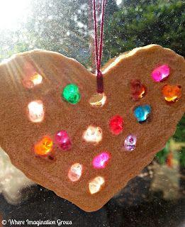 Salt Dough & Melted Bead Tree Ornaments - I love this idea!