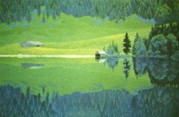 東山魁夷 緑深き湖 1970年