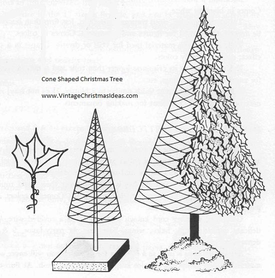 make your own cone shaped christmas tree
